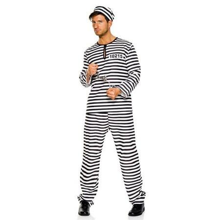 Music Legs 76029-M 4 Piece Prison Mate Costume - Medium - Halloween Costumes-jail Mate