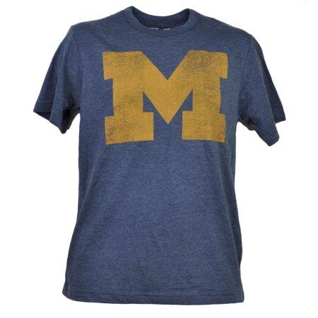 NCAA Michigan Wolverines Tshirt Tee Blue Short Sleeve Crew Neck Sports XLarge (Halloween Stores Michigan)