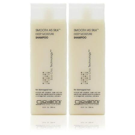 Giovanni Smooth As Silk Deep Moisture Shampoo (Pack of 2)