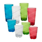 CreativeWare Circus 24-Ounce/16-Ounce Assorted Tumblers, Set of 8