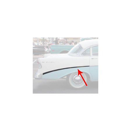 Eckler's Premier  Products 57-360206  Chevy Bel Air 4-Door Sedan Or Wagon Rear Quarter Panel Molding Right