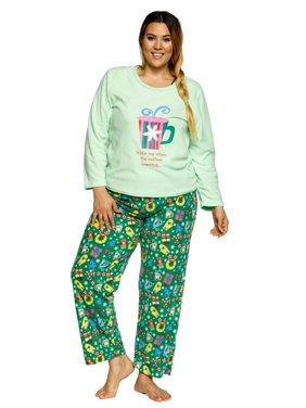 333bb8ee3c Product Image Xehar Women s Soft Plush Christmas Sleepwear Nightwear Pajama  Pjs Set (2 Piece ...