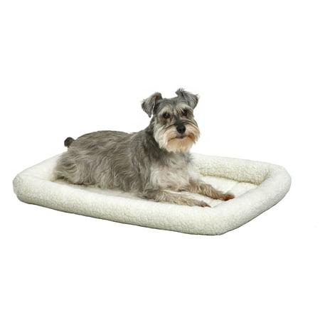 Midwest Deluxe Quiet Time Bolster Pet Bed & Crate Mat, Fleece, 30