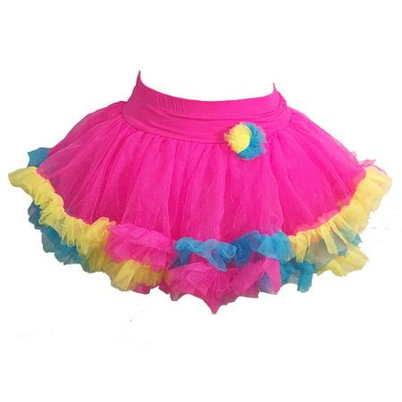 Jona Michelle Girls Pettiskirt Dress Up Bright Colorful Tutu - Tutu Stores