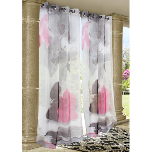 Commonwealth Home Fashions Outdoor D cor Zen Rocks Single Curtain Panel