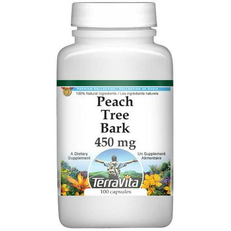 Peach Tree Bark   450 Mg  100 Capsules  Zin  521102