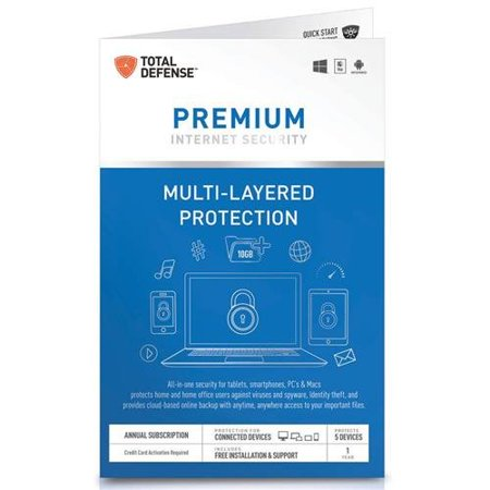 Total Defense Premium Internet Security For 5 Devices   1Yr