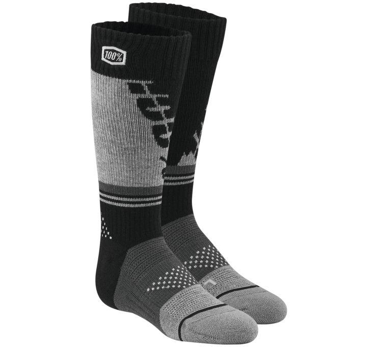 100% Torque Youth Moto Socks Black/Gray