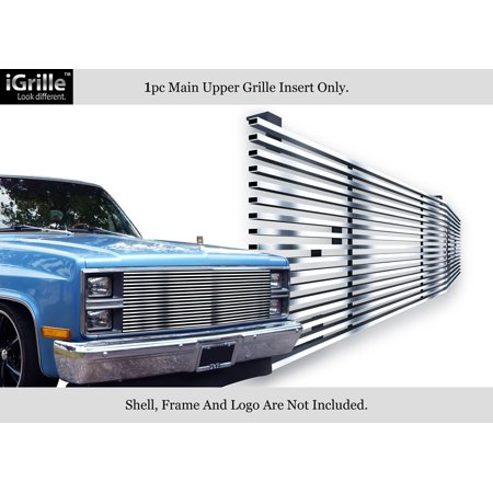 304 Stainless Chrome Billet Grille For 1981-87 Chevy C/K Pickup/Suburban/Blazer #N19-S20058C