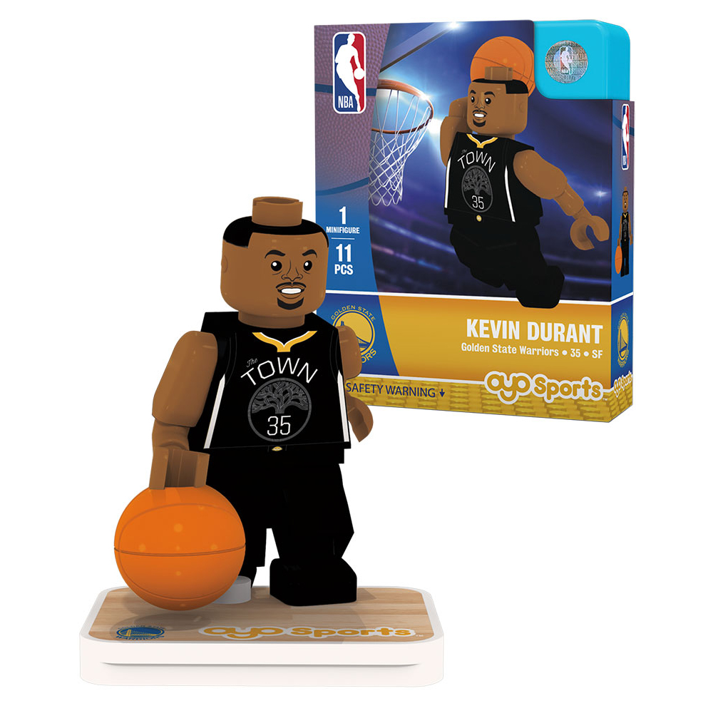 Kevin Durant Golden State Warriors OYO Sports Player Away Jersey Minifigure - No Size