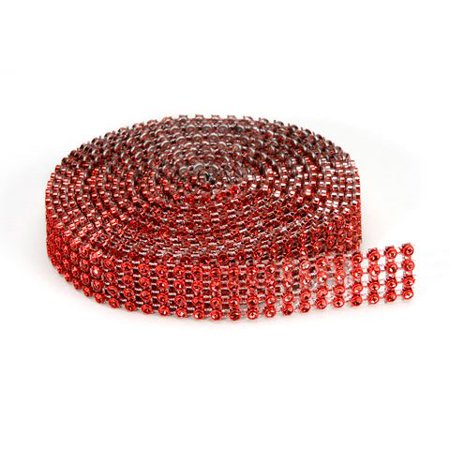 4 Row Bling (Darice Bling On A Roll - Red - 4 Row - 3Mm X 3 Yards )
