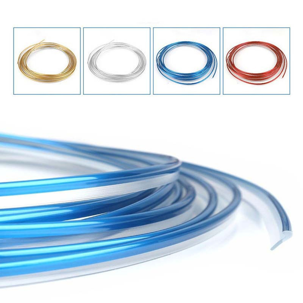 Girl12Queen 5m Flexible Trim Strip for Car Interior Exterior Moulding Strip Decorative Line