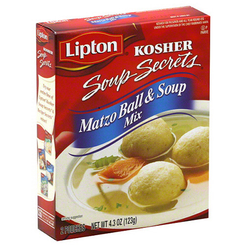 Lipton Soup Secrets Matzo Ball & Soup Mix, 4.3 oz, (Pack of 12)