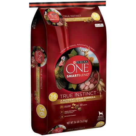Purina ONE SmartBlend vrai Instinct avec le Real Turquie et Chevreuil adulte haut de gamme Dog Food 36 lb Sac