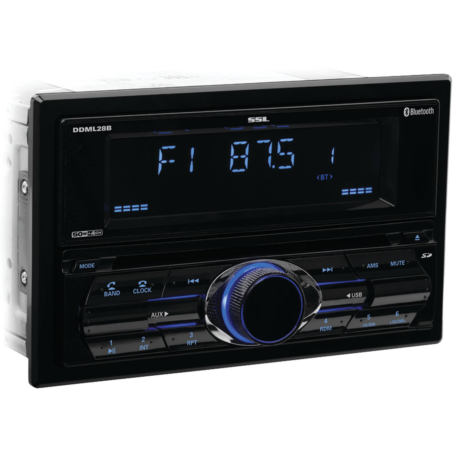 Sound Storm Laboratories DDML28B Double-DIN In-Dash Mechless Digital Media Receiver with Bluetooth