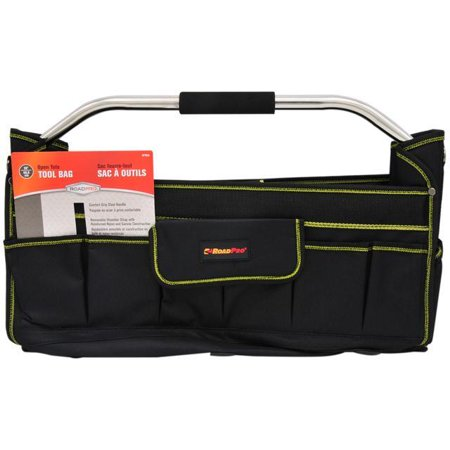 ROADPRO RPTB20 Collapsible Tool Carrier/Bag, Reinforced Nylon and Canvas
