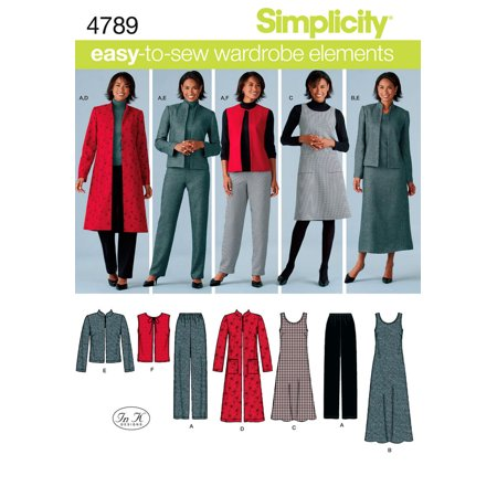 Jacket Simplicity Pattern - Simplicity Misses' Size 10-18 Pants, Vest, Jacket & Jumper Pattern, 1 Each
