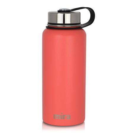 e8e247cc2d MIRA 32 Oz Stainless Steel Vacuum Insulated Wide Mouth Water Bottle |  Thermos Keeps Cold for 24 hours, Hot for 12 hours | Double Wall Powder  Coated Travel ...