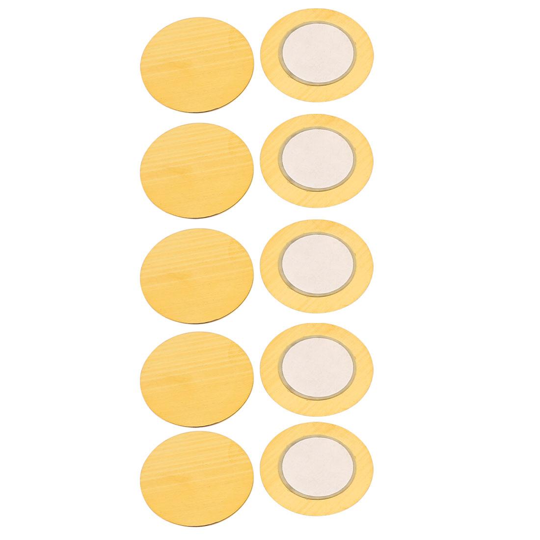 Piezoelectric Ceramic Copper Buzzer 30mm Passive Piezo Discs Film Gasket