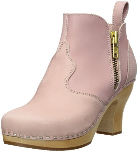 swedish hasbeens Women's Pink Zip It Inma Boot,Dirty Pink Women's Nubuck,9 M US 6e0673