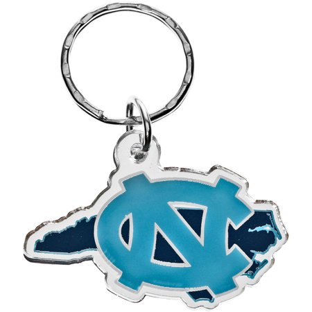 North Carolina Tar Heels State Shape Keychain - No Size