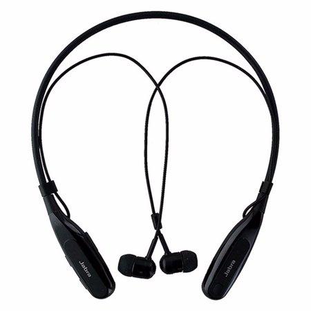 b9aaceb7bcb Jabra Halo Fusion Around the Neck Wireless Bluetooth Stereo Headset - Black  (Refurbished) - Walmart.com