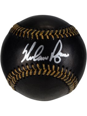 Nolan Ryan Texas Rangers Autographed Black Leather Baseball - Fanatics Authentic Certified