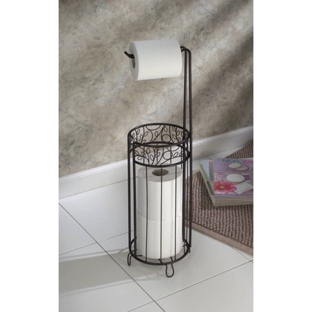 InterDesign Decorative Toilet Paper Holder Stand