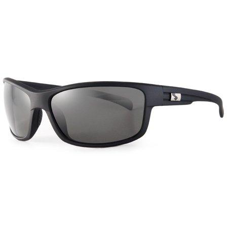 Sundog DISCREET Polarized Sunglasses Matte Black Frame Smoke Lens #227212