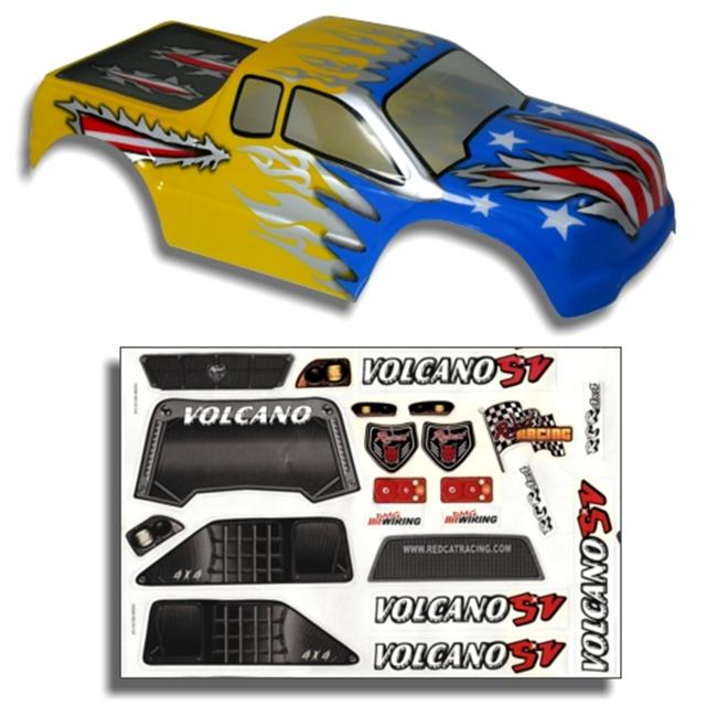 Redcat Racing 88020BY . 10 Truck Body Blue and Yellow