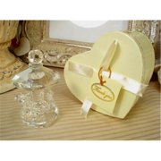 DLusso Designs CR-Smcarousel Mini CRystal Carousel In Satin Lined Heart Box, Pack Of - 3.