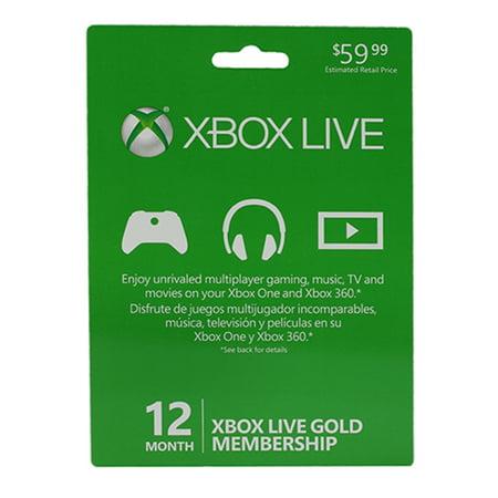 Xbox Live 12Mo Gold Card Min 50