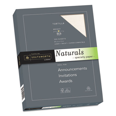 Naturals Paper, Tortilla, 8 1/2 x 11, 32lb, 100 Sheets, Sold as 1 Package, 100 Sheet per Package