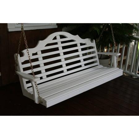 A & L Furniture Yellow Pine Marlboro Porch Swing ()