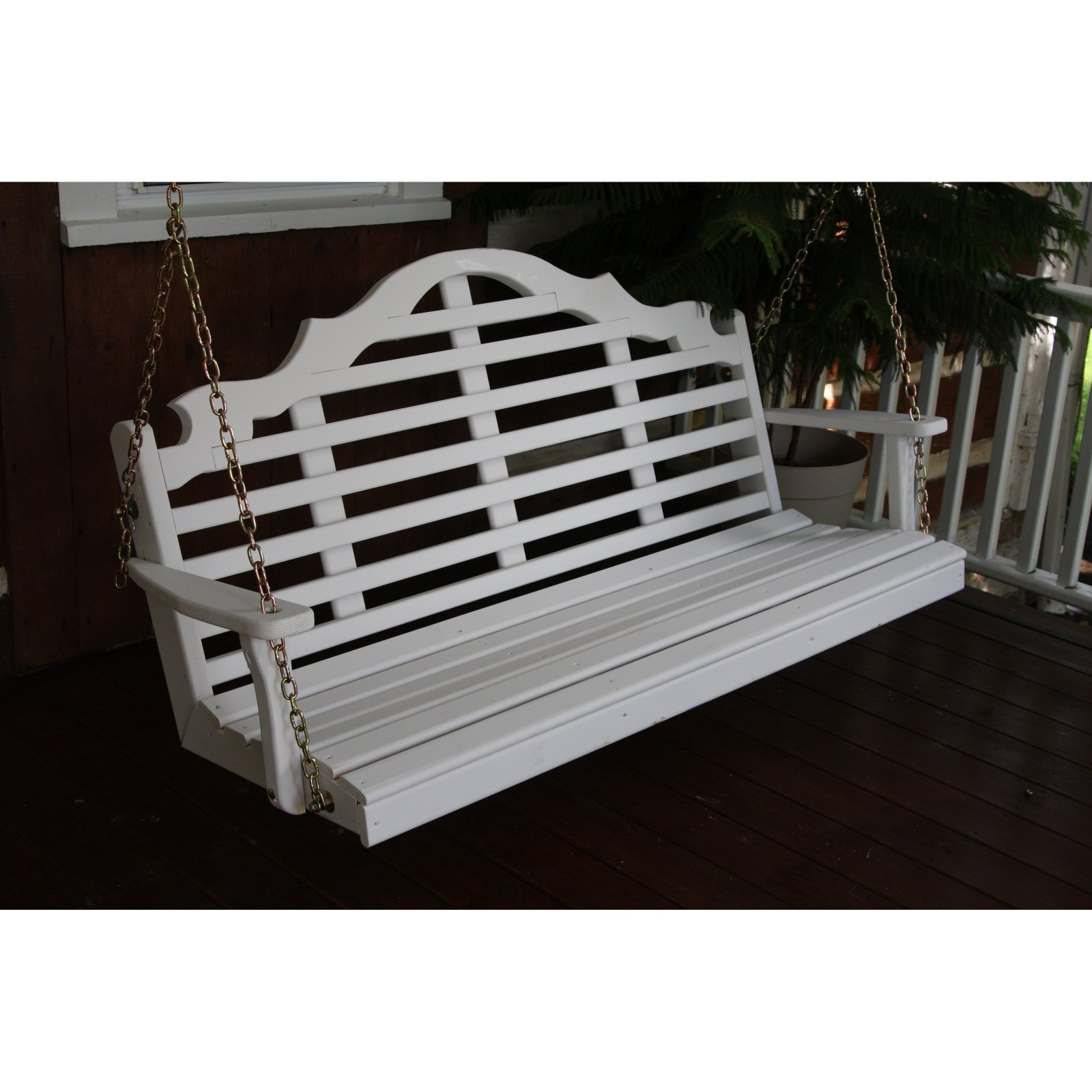 A & L Furniture Yellow Pine Marlboro Porch Swing