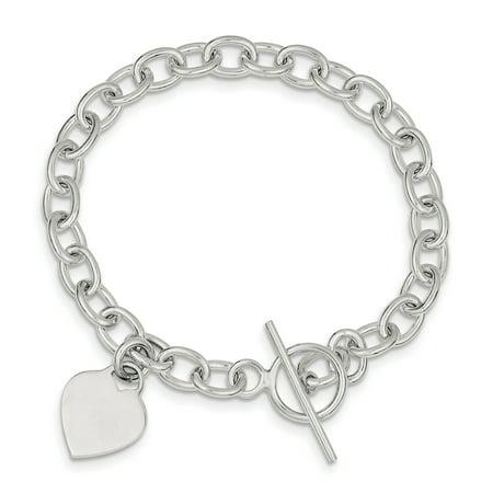 925 Sterling Silver Dangling Heart Charm Bracelet W/charm Fine Jewelry Ideal Gifts For Women Gift Set From Heart Silver Heart Charm Toggle Bracelet