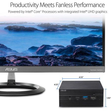 ASUS VivoMini PN60 Mini PC/HTPC, Intel Dual-Core i3-8130U 2 2GHz Upto  3 4GHz, 8GB DDR4, 1TB HDD, 4K UHD Support, 2x HDMI, Dual-Monitor Capable,  USB,