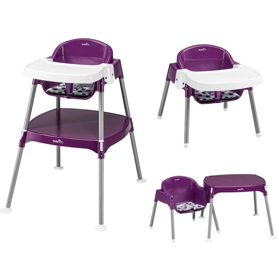 Evenflo Minimeal High Chair Dottie Grape