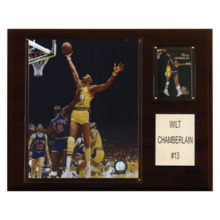 C&I Collectables NBA 12x15 Wilt Chamberlain Los Angeles Lakers Player Plaque (Wilt Chamberlain Sign)