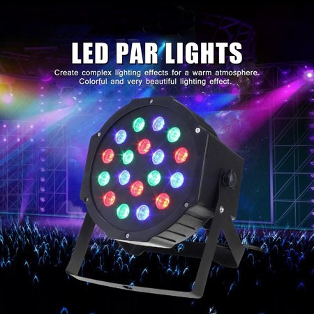 Ktaxon Par Lights 18 Led Party Dj Disco Sound Activated Stage Lighting For Wedding Ktv Show Club Bar Karaoke