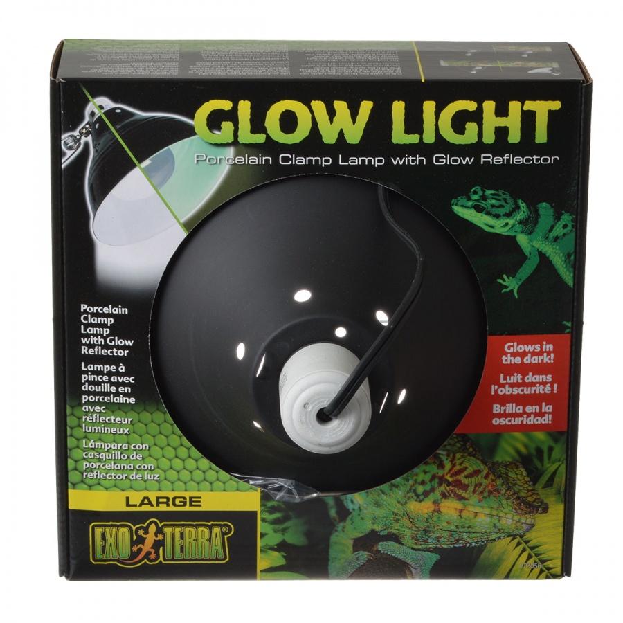 Exo Terra Glow Light Porcelain Clamp Lamp Large 100 Watt