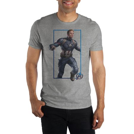 Mens Captain America Shirt Short Sleeve Avengers Mens Clothing-Small He's the original Avenger and will play a huge role in saving the world, but for now, he just looks great on this Mens Captain America Shirt! The Captain America TShirt is an all grey, short sleeve mens tee featuring a crew neck design and made of soft, comfortable materials. The Avengers Mens Clothing features a brightly colored, detailed graphic image of Captain America across the front of the shirt. The Captain America TShirt is available in a variety of Mens sizes and would be the perfect Avengers Mens Clothing item to gift to any guy!