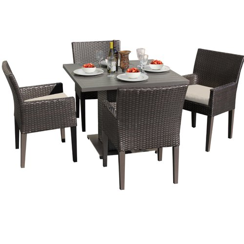 Sol 72 Outdoor Tegan 5 Piece Dining Set with Cushions
