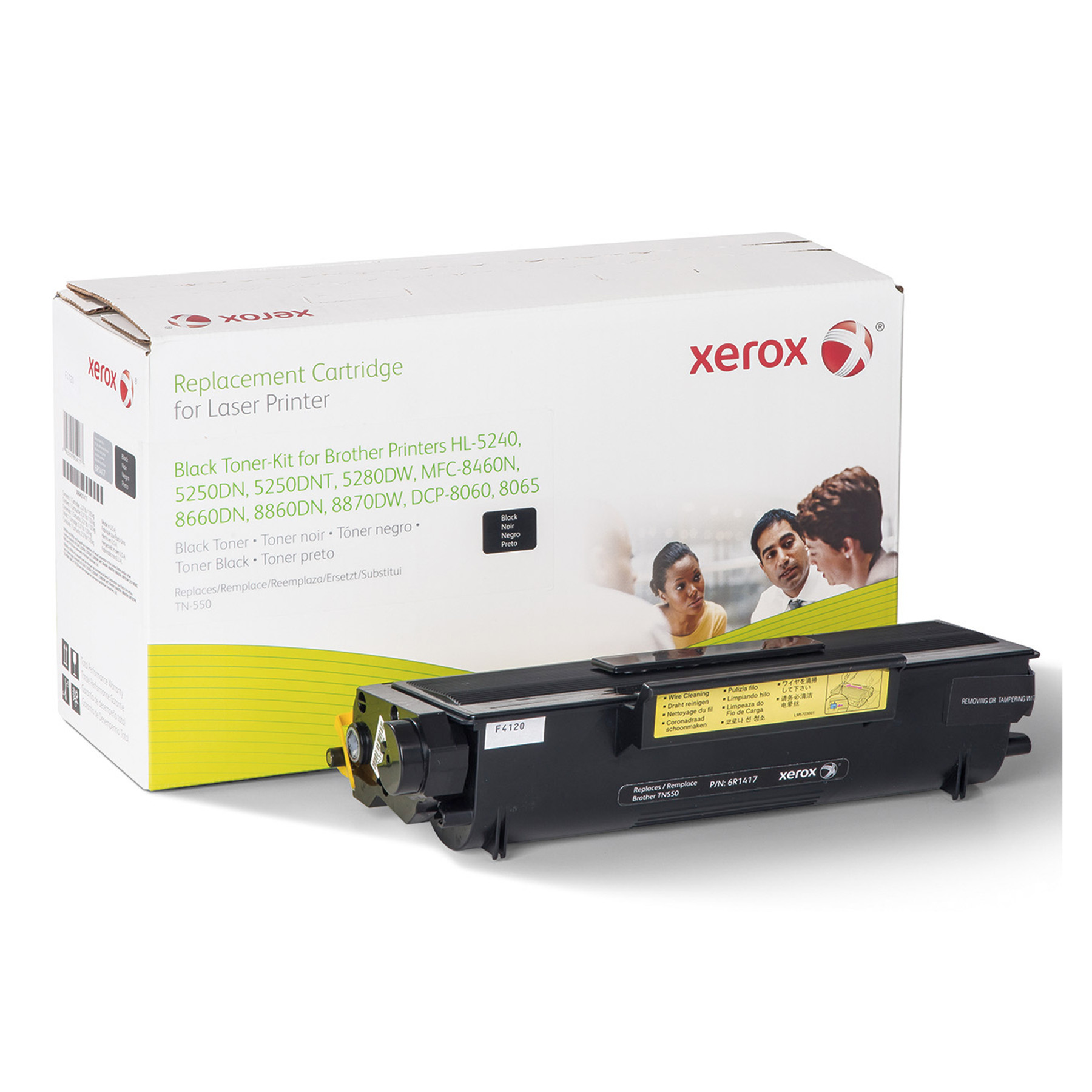 Xerox 006R01417 Remanufactured TN550 Toner, Black