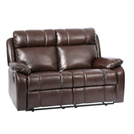 Loveseat Chaise Reclining Couch Recliner Sofa Chair Leather Accent Chair -