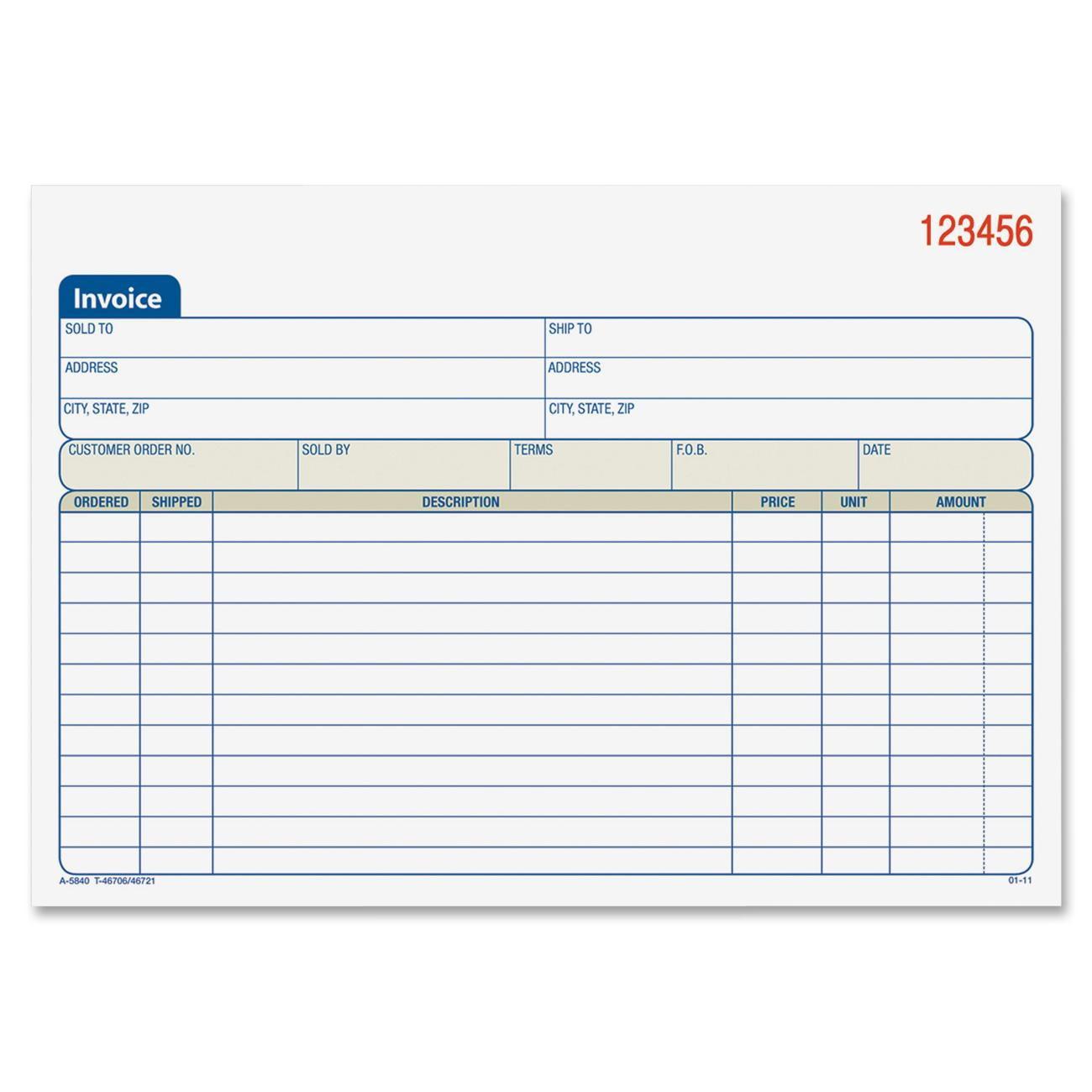 adams carbonless invoice book walmart com