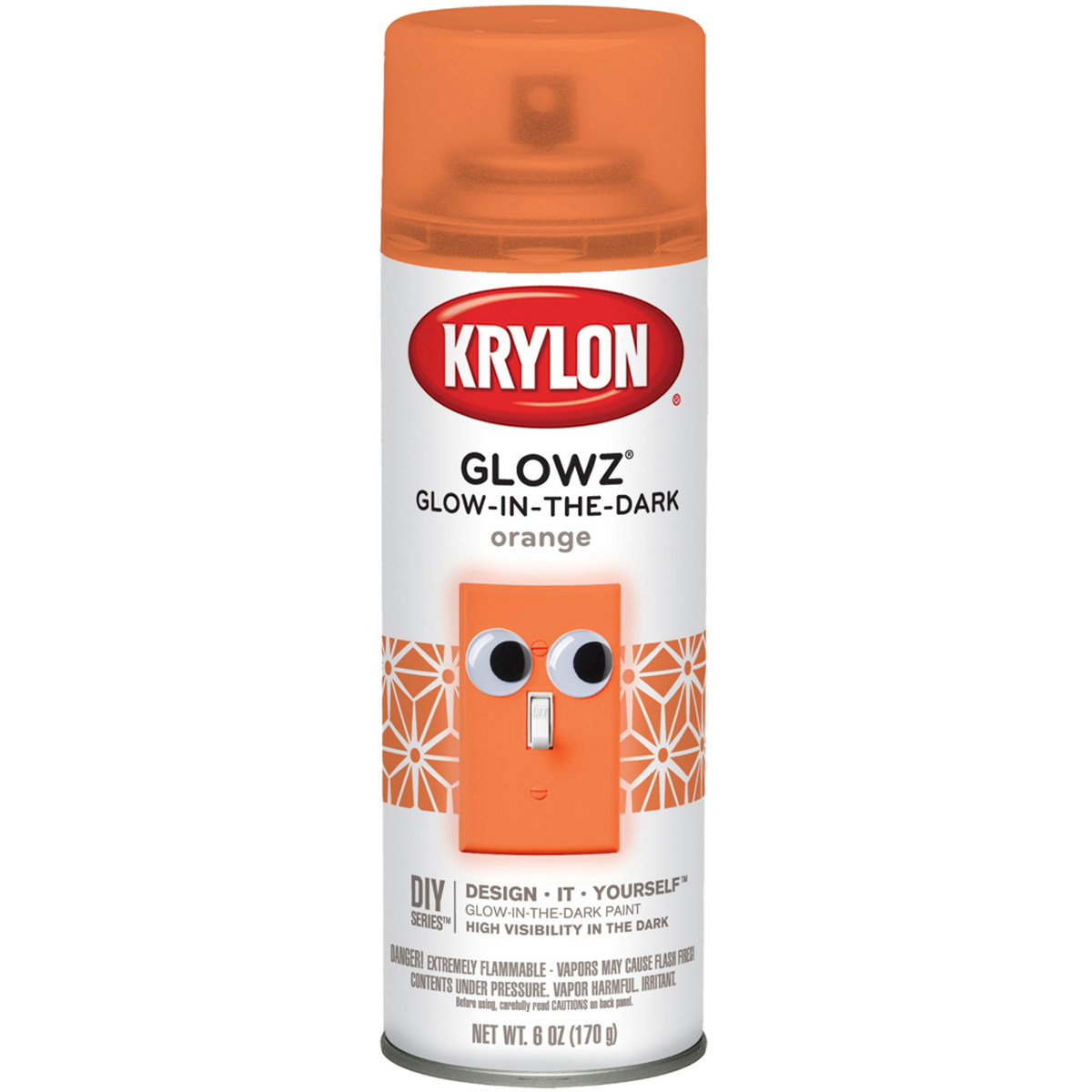 Glowz Aerosol Spray 6oz-Orange
