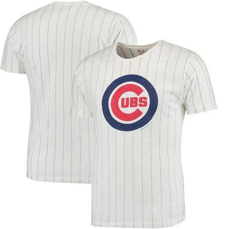 Chicago Cubs Red Jacket Brass Tacks Pinstripe T-Shirt - - Red Jacket Brass Tacks