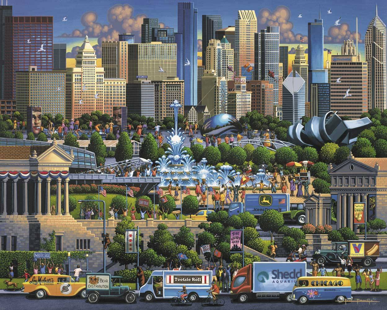 Dowdle Jigsaw Puzzle Chicago 1000 Piece by Dowdle Folk Art