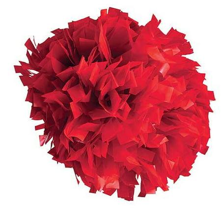 Pizzazz Red Plastic Cheer Single Pom Pom